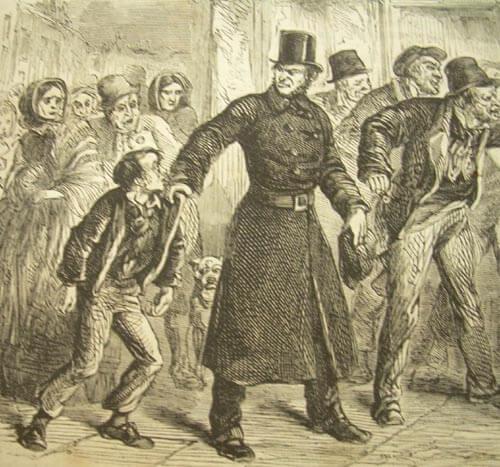 Arrestation d'un jeune délinquant