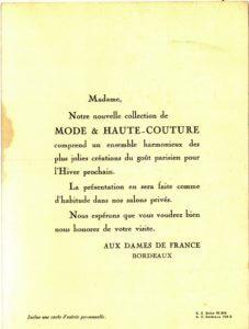 Fig. 2 - Texte de l'invitation