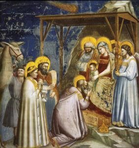 Adoration des Mages par Giotto