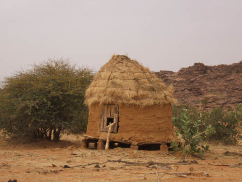 Grenier à mil en Mauritanie