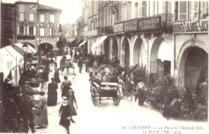 Photo 1 - Vue du marché de Libourne