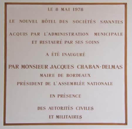 Plaque inauguration