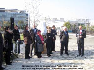 discours de Gunnar Lund, Ambassadeur de la Suède à Paris - Photos Anne Lan