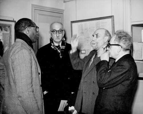 Rene Maran et Francois Mauriac en 1950