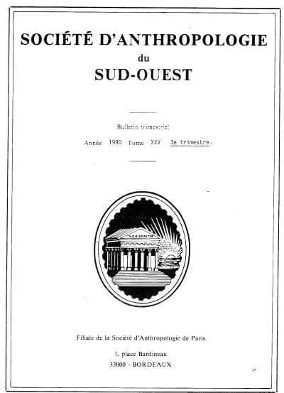 Couverture d'un bulletin de la SASO