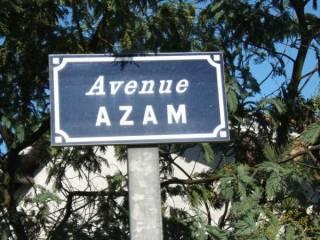 Plaque de rue à Pessac honorant le docteur Azam