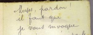 Fig. 14 - Brève dédicace d'Osmin Ricau