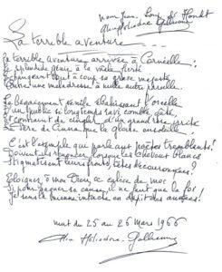Fig. 15 - Dédicace, de longueur habituelle, d'Osmin Ricau
